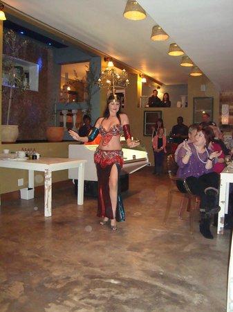 Opa Greek Taverna: Belly dancer, opening night at OPA