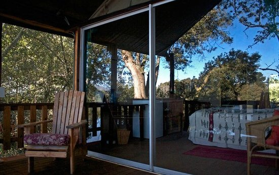 7 Passes Tented Camp: Sliding doors make the structure feel very secure