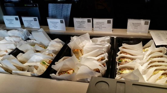 Ibsens Hotel: Some of the sandwiches available for breakfast