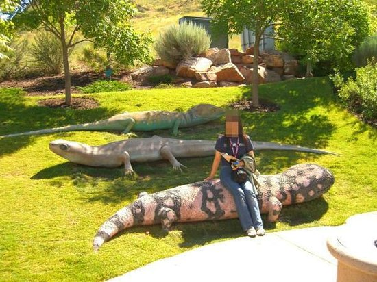 Red Butte Garden: オオトカゲのオブジェ