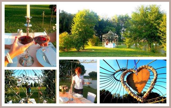 Pracharna Park Hotel Olomouc : Romatic dinner in gazebo on the shore of the pond