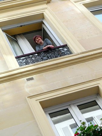 Hotel Mattle : The balcony