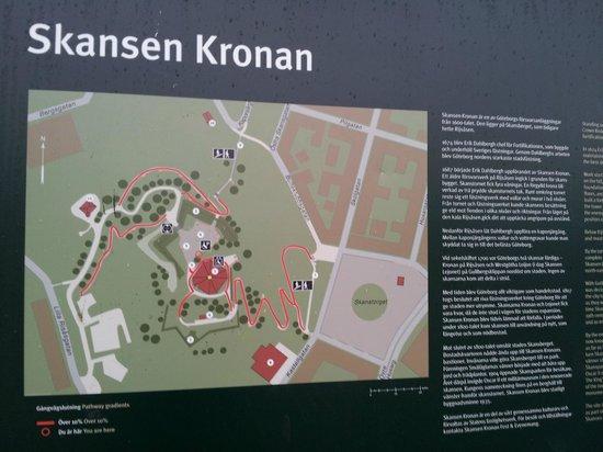 Skansen Kronan : Informationstavla