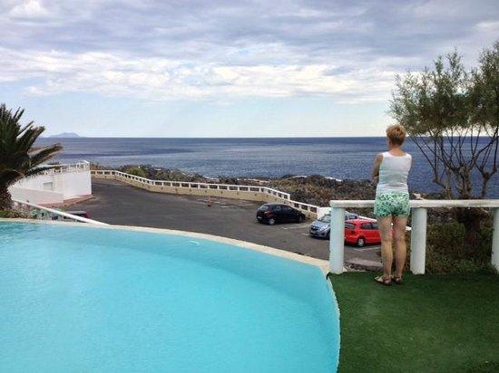 Hotel Calypso Cretian Village : Вид с верхнего бассейна