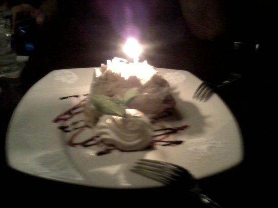 Okeechobee Steakhouse: Cocount cream birthday pie