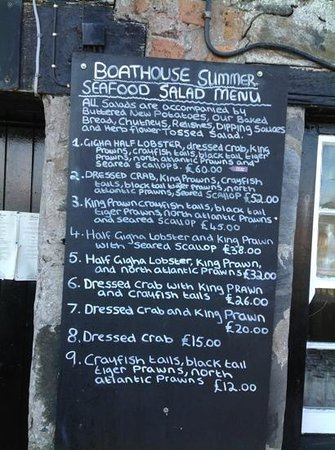The Boathouse: just a snapshot of the many choices available
