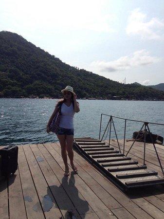 Nangyuan Island Dive Resort : โป๊ะเรือ รอกลับฝั่ง