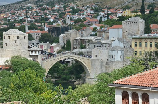 Villa Anri Mostar: View of Mostar from our balcony