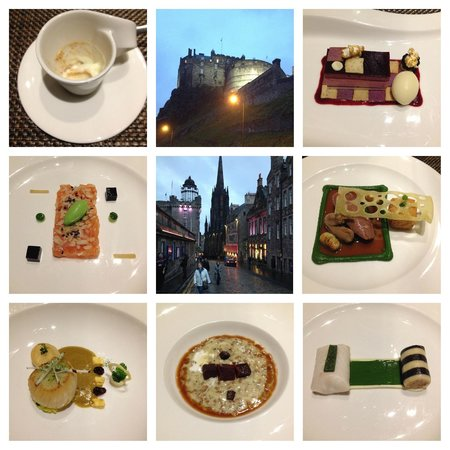 Castle Terrace Restaurant: Sea and land tasting menu
