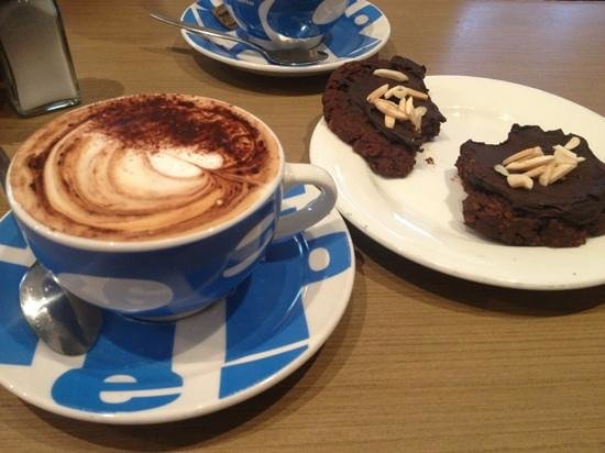 The Caf Coolum: yummy afghans and perfect tasting cappuccino.