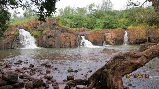 Lingmala falls near Krishna Continental Hotel
