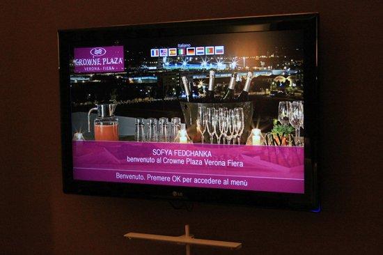 Crowne Plaza Hotel Verona - Fiera: вот такая милая табличка встретит вас по прибытию :)
