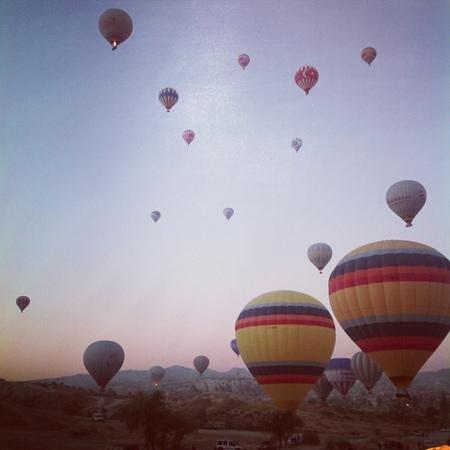 Hezen Cave Hotel: balon seyahati