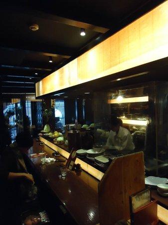 Onegiya Shinjuku ten: Downstairs bar...