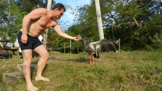 El Roble: Sean and his favourite fighting bird