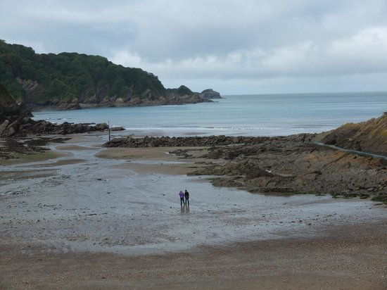 Combe Martin beech Tide out.