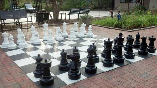 Duke Tower Suites and Condominiums: Giant Chess Set