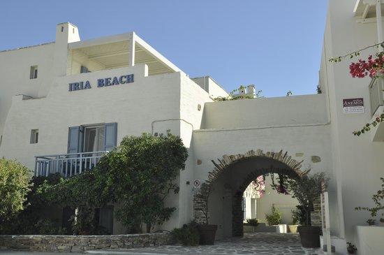 Entrance to Iria Beach Art Hotel