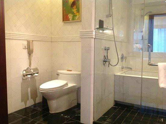 Pullman Shanghai Skyway Hotel : Spacious Clean Bathroom