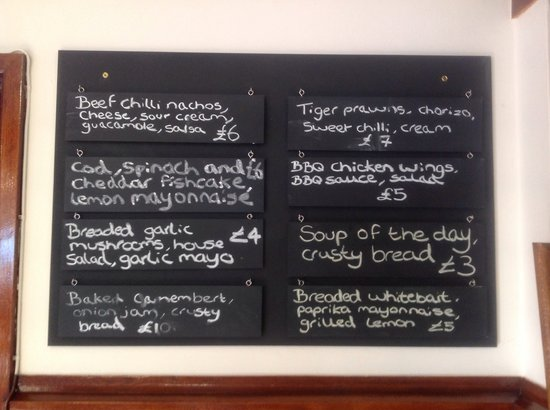 The Blue Anchor St. Albans: Our chalk boards