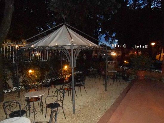Hotel David: El jardin acogedor donde se sirve el aperitivo
