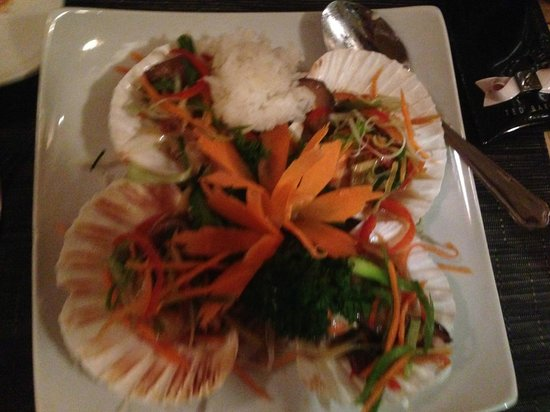 Giggling Squid Tunbridge Wells: Amazing Scallops with Sticky Rice