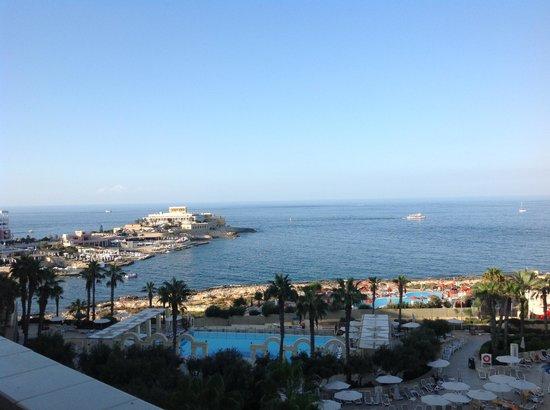 Hilton Malta: view from contemporary room
