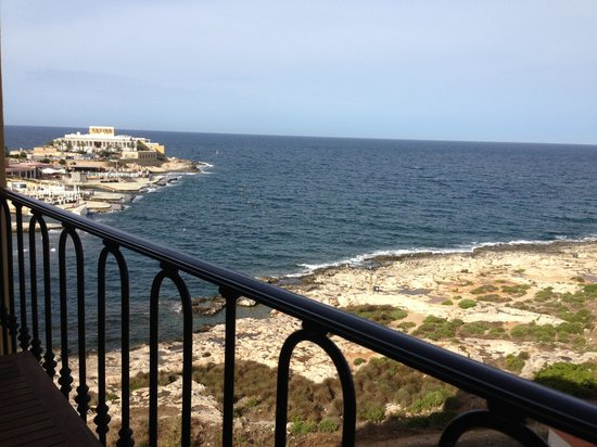 Hilton Malta: view from Executive lounge balcony