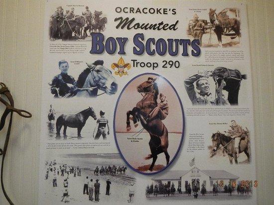 Ocracoke Preservation Museum: Mounted Boy Scouts