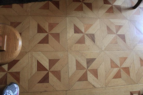 Conrad-Caldwell House Museum (Conrad's Castle) : One of the quilt-pattterned floors