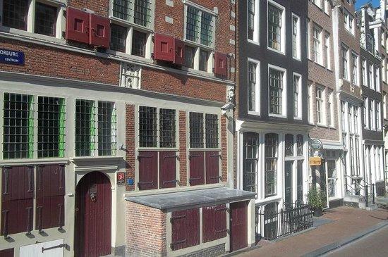 Velvet Amsterdam Bed and Breakfast: View of Velvet Amsterdam from street - The brown building