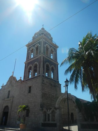 Mission San Javier: bell tower of mission