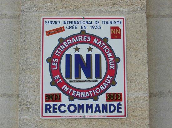 Hotel Le Chantry : ATTESTATO