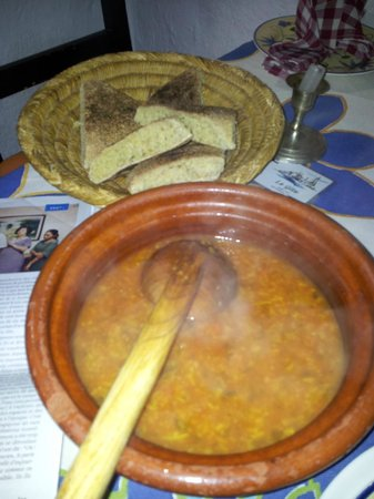 Gite Dayet Aoua : Soup for diner