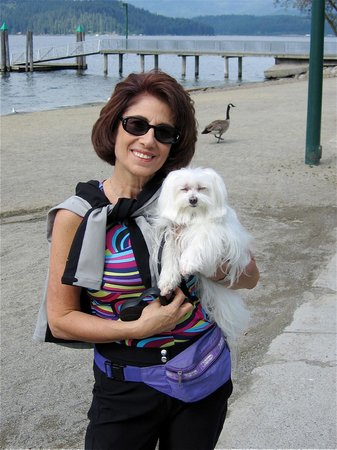 Coeur d'Alene Lake: Cosette and me by the beach