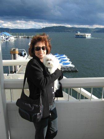 Coeur d'Alene Lake: Cosette and me