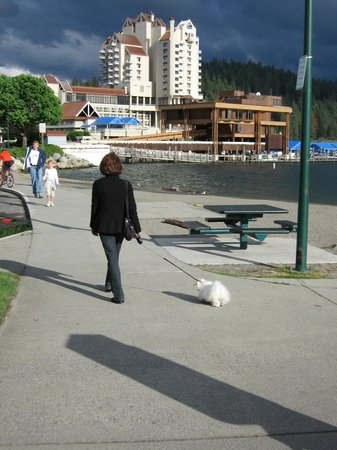 Coeur d'Alene Lake: Walking back toward the hotel