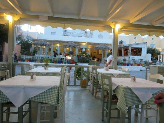 Restaurant scene, Vassilikos Restaurant, Kamari, Greece