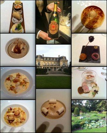 Château Les Crayeres : tout cela dans le menu gastronomique