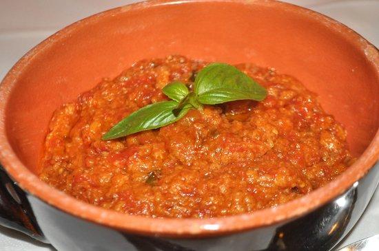 Osteria Le Panzanelle: Pappa al pmodoro (bread, tomato and basil soup)