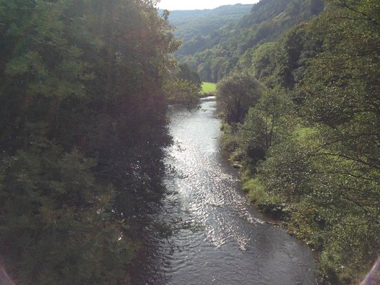 Dirbach Plage Hotel : River view from nearby bridge