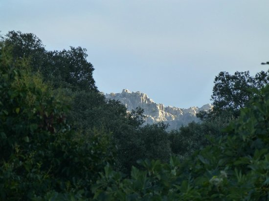 Molino del Santo : View from our room of the distant mountains