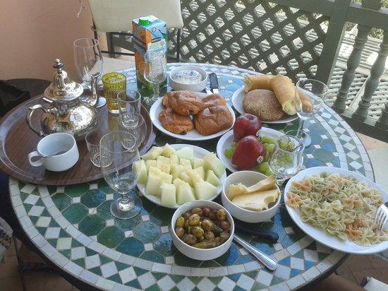 Palmeraie Village Residence: Petit déjeuner fait maison
