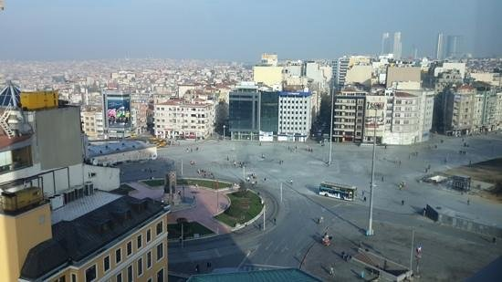 The Marmara Taksim: The view from the 9th Floor