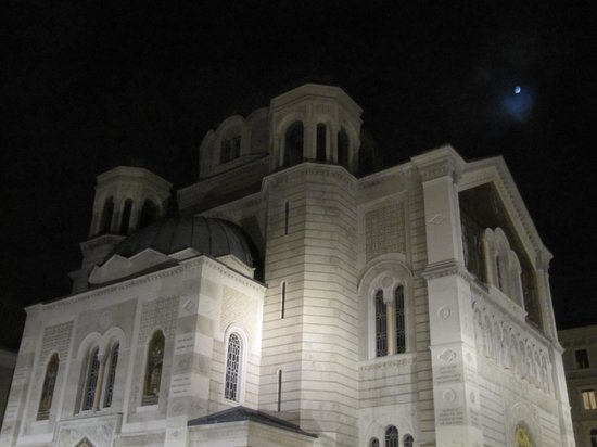 Chiesa Serbo Ortodossa di San Spiridione: Trieste - Saint Spyridon - At night