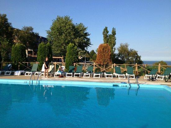 Hotel Cap-aux-Pierres : La piscine