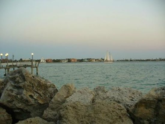 Island's End Resort: View of Boca Ciega Bay and Island's End fishing dock