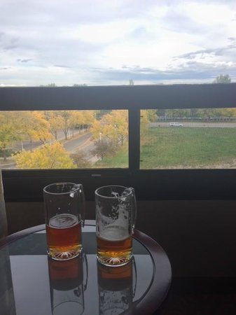 Marriott Hotel Fort Collins : The view from our room with our happy hour beers.