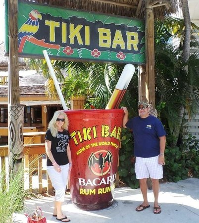 Tiki Bar At Holiday Isle: Tiki Bar entrance. A great place to chill. Crab cakes are a hit.
