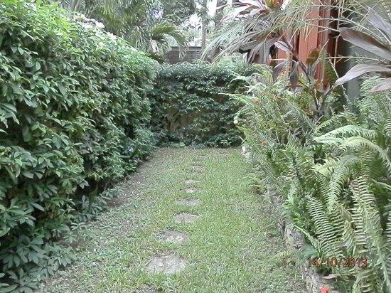 Hermosa Cove - Jamaica's Villa Hotel : Garden adjoining living room and bedroom